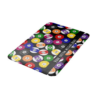 Fun Country Style Chequered Billiards Pattern Bath Mat