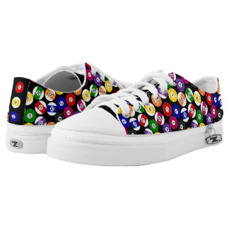 Fun Country Style Chequered Billiards Pattern Low-Top Sneakers