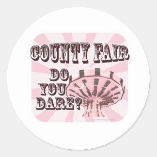 Fun County Fair Slogan Round Sticker