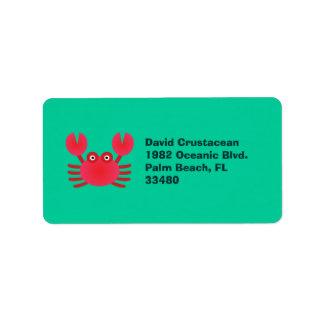 Fun Crab Custom Address Label