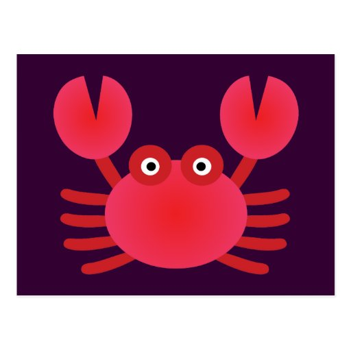 Fun Crab Post Card