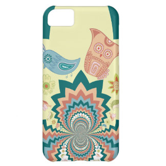 Fun Crazy Owl Birds Chevron Pattern iPhone 5C Covers