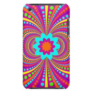 Fun Crazy Pattern Hot Pink Orange Teal Barely There iPod Case