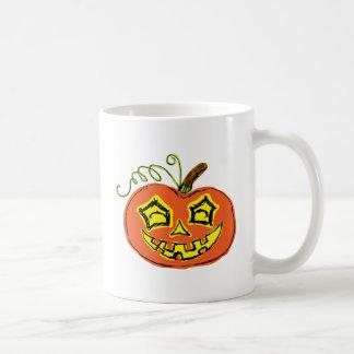Fun & Creepy Orange Pumpkin Coffee Mug