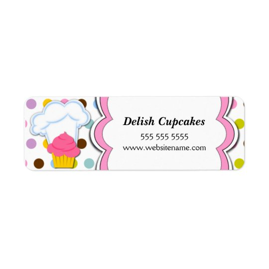 Fun Cupcake and Bakers Hat Labels