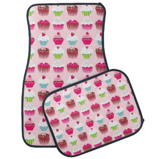 Fun Cupcake pattern car mats