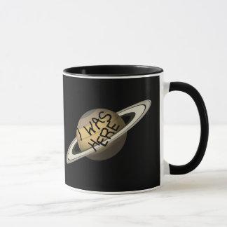 Fun Custom Saturn Planet - I was here ! Mug