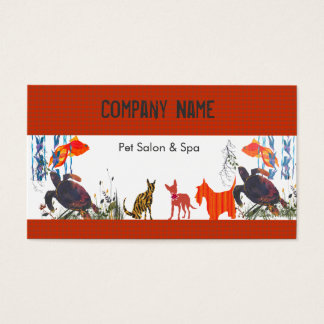 Fun Cute Animals Pet Care Business Card