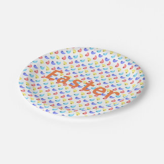 Fun cute colorful birds easter party paper plates