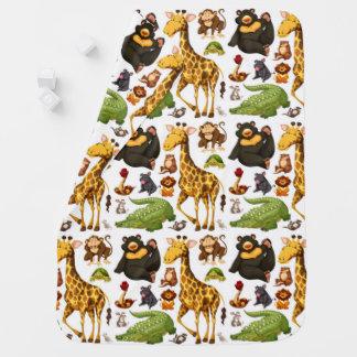 Fun Cute Jungle Animals Baby Blanket
