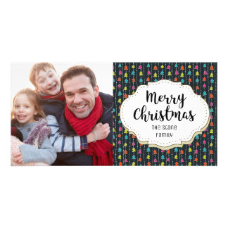 Fun Cute Trees Christmas Picture Photo Card