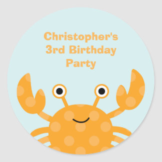 Fun cute under the sea birthday party stickers