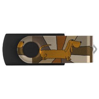 Fun Dachshund Dog Abstract USB Drive Swivel USB 2.0 Flash Drive