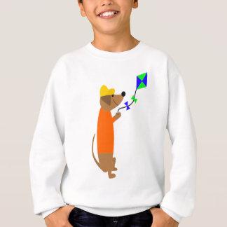 Fun Dachshund Dog Flying a Kite Sweatshirt