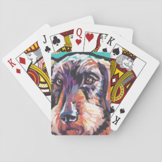 Fun DACHSHUND doxie dog bright colorful Pop Art Playing Cards