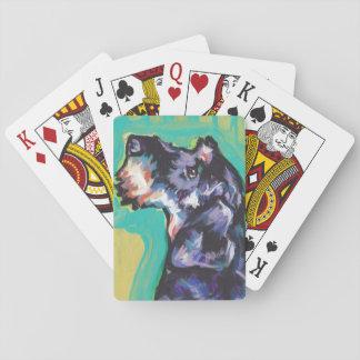 Fun DACHSHUND doxie dog bright colorful Pop Art Playing Cards