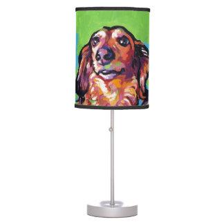 Fun DACHSHUND doxie dog bright colorful Pop Art Table Lamp