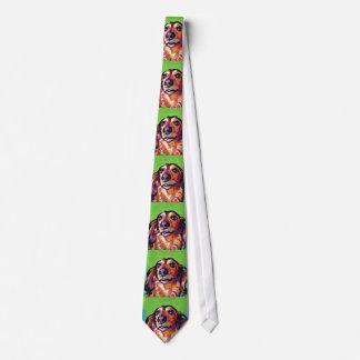 Fun DACHSHUND doxie dog bright colorful Pop Art Tie