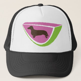 Fun Dachshund Watermelon Design! Trucker Hat