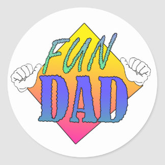 Fun Dad Classic Round Sticker