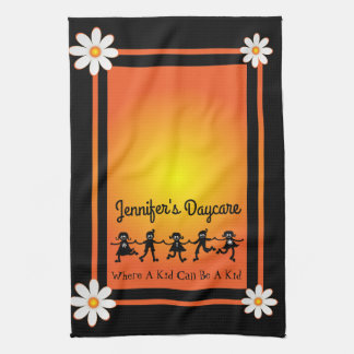 Fun Daisies & Kids Personalized Daycare Kitchen Towel
