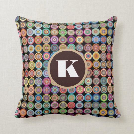 Fun & Decorative Circles Throw Pillow