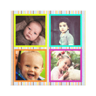 Fun decorative colorful photo frame canvas print