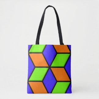 Fun Diamond Pattern Tote Bag