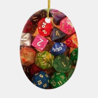 Fun Dice design for gamers Ceramic Oval Ornament