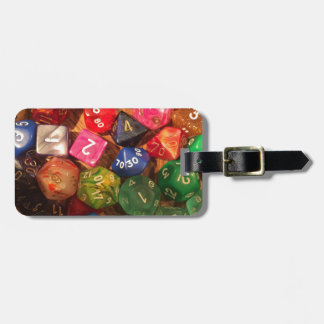 Fun Dice design for gamers Luggage Tag