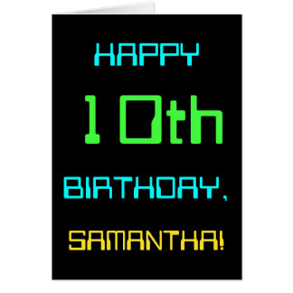 Fun Digital Computing Themed 10th Birthday Card