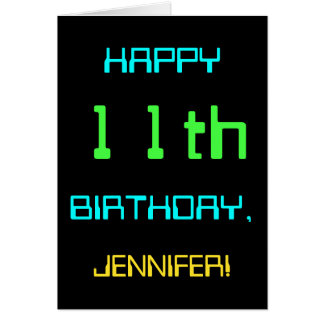 Fun Digital Computing Themed 11th Birthday Card
