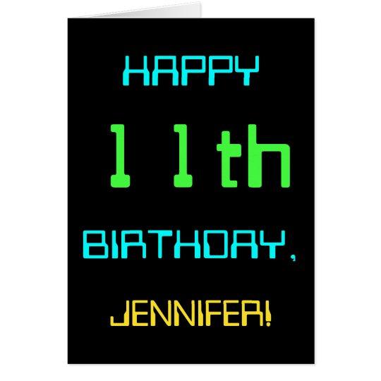 Fun Digital Computing Themed 11th Birthday Card