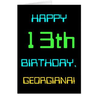 Fun Digital Computing Themed 13th Birthday Card