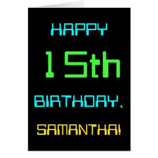 Fun Digital Computing Themed 15th Birthday Card