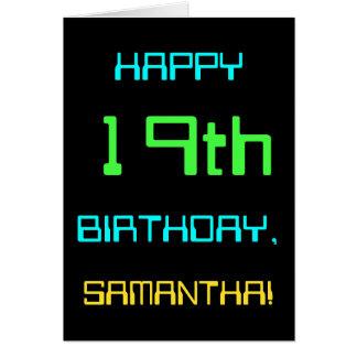 Fun Digital Computing Themed 19th Birthday Card