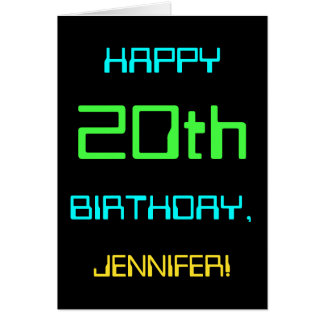 Fun Digital Computing Themed 20th Birthday Card