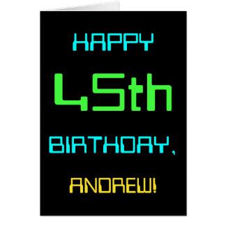 Fun Digital Computing Themed 45th Birthday Card
