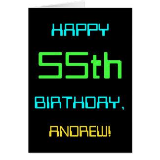 Fun Digital Computing Themed 55th Birthday Card