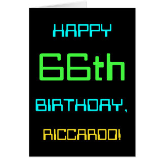 Fun Digital Computing Themed 66th Birthday Card