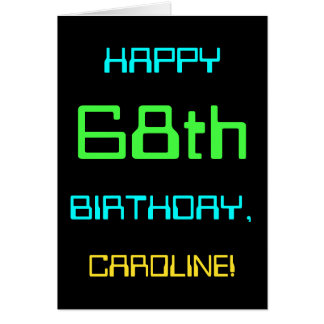 Fun Digital Computing Themed 68th Birthday Card