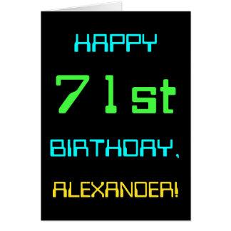 Fun Digital Computing Themed 71st Birthday Card