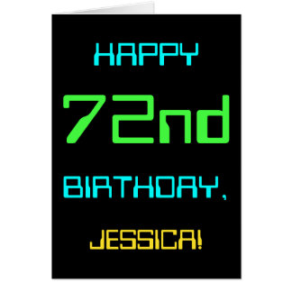Fun Digital Computing Themed 72nd Birthday Card
