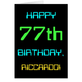 Fun Digital Computing Themed 77th Birthday Card