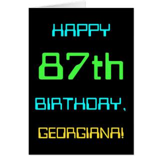 Fun Digital Computing Themed 87th Birthday Card