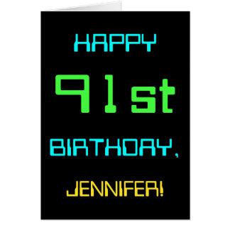 Fun Digital Computing Themed 91st Birthday Card