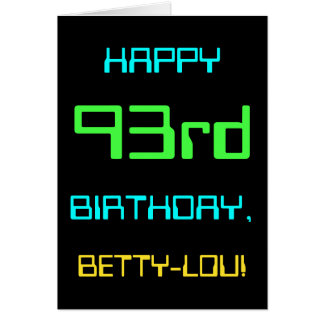 Fun Digital Computing Themed 93rd Birthday Card