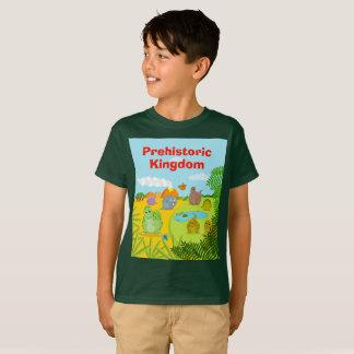 Fun dino prehistoric Jurassic dinosaur landscape, T-Shirt