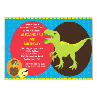 Fun Dinosaurs Birthday Invitation