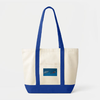 FUN DIVER SWIMMING WITH SHARK IMPULSE TOTE BAG